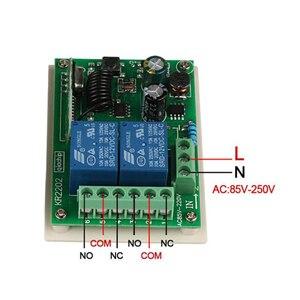 Image 5 - QIACHIP 433 Mhz Interruttore di Telecomando Senza Fili AC 85V 110V 220V 2CH Relè Modulo Ricevitore e RF 433 Mhz 4 button Telecomandi E Controlli Da Remoto