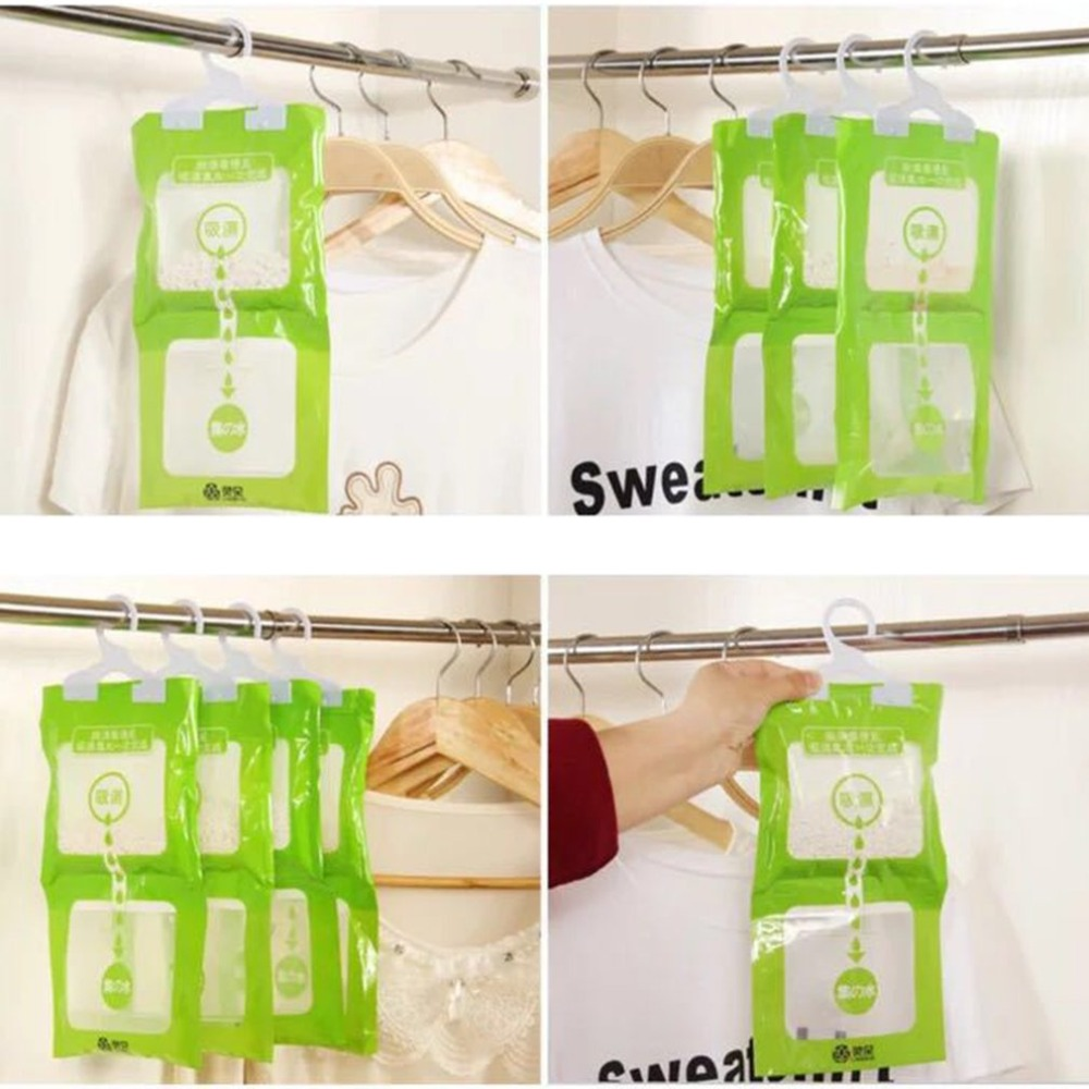 Anti-Mold Desiccant Bag Wardrobe Hanging Moisture Bags Kitchen Bathroom Wardrobe Drying Agent Hygroscopic Dehumidifier Bags