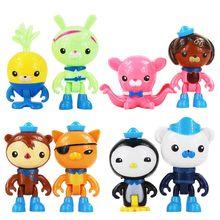 8 Pçs/set Octonauts Brinquedos Figura Dos Desenhos Animados Capitão Cracas Peso Shellington Dashi Ajustar Figurinhas Boneca Toy Modelo para Crianças