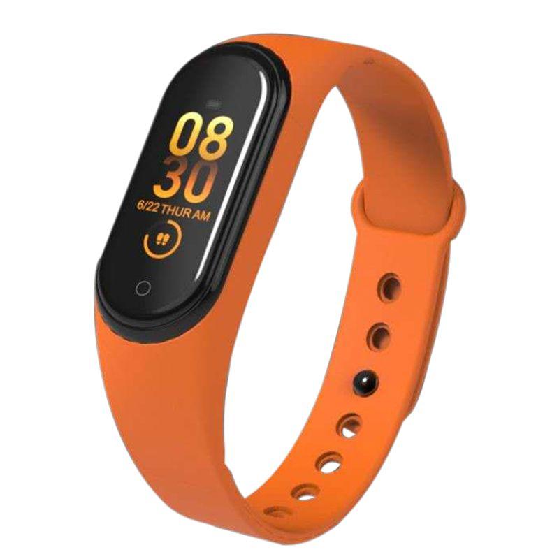 Relógio de fitness m4 hr pressão arterial à prova dwaterproof água inteligente pulseira calorias relógio esporte inteligente para ios android dropshipping
