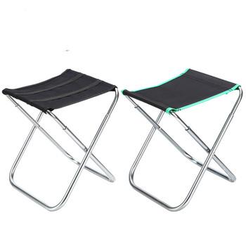 Aluminiowe krzesło wędkarskie Casual składany stołek Outdoor camping meble ogrodowe przenośne ultralight travel patio piknik beach tanie i dobre opinie Aotu Black style green side style outdoors Black side Green side aluminium alloy Angling chair