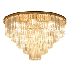 Jmmxiuz Американский ретро стеклянный подвесной светильник труба светодиодный круглый фойе гостиной Хрустальный подвесной светодиодный потолочный светильник