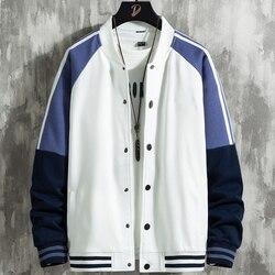 2021 New Spring Fashion Patchwork College Style Harajuku Streetwear Casual Varsity Bomber Jacket Men Baseball Coats