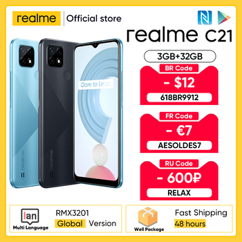 Wersja globalna realme C21 smartfon Helio G35 Octa Core 6 5 #8221 cal ekran 5000mAh ogromne baterii 3 gniazda na kartę 13MP kamery tanie i dobre opinie Niewymienna inny CN (pochodzenie) Android Rozpoznawanie twarzy Z tyłu Adaptacyjne szybkie ładowanie english Rosyjski Niemieckie