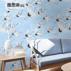 Hohe Qualität Chinesischen TV Hintergrund Wand Papier Kran Vogel Weiß Kran Neue Chinesischen Stil Wohnzimmer Schlafzimmer Studie Hotel