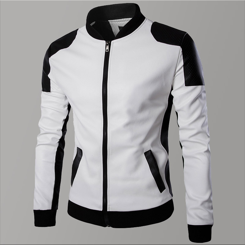 New White Men Leather Jacket Motorcycle Bike Brand Trend Autumn Men's Jacket Thick Coats Winter Chaqueta Hombre Warm Mens Coats