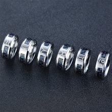 Vnox 12 созвездий кольца для мужчин женщин 8 мм нержавеющая
