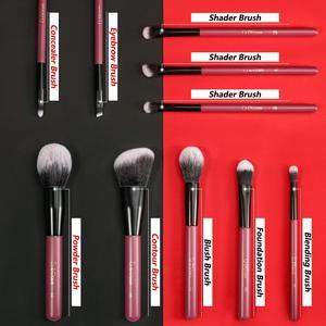 Image 3 - Ducare 10 個化粧ブラシセットパウダーファンデーション蛍光目ブラシメイクアップバッグ