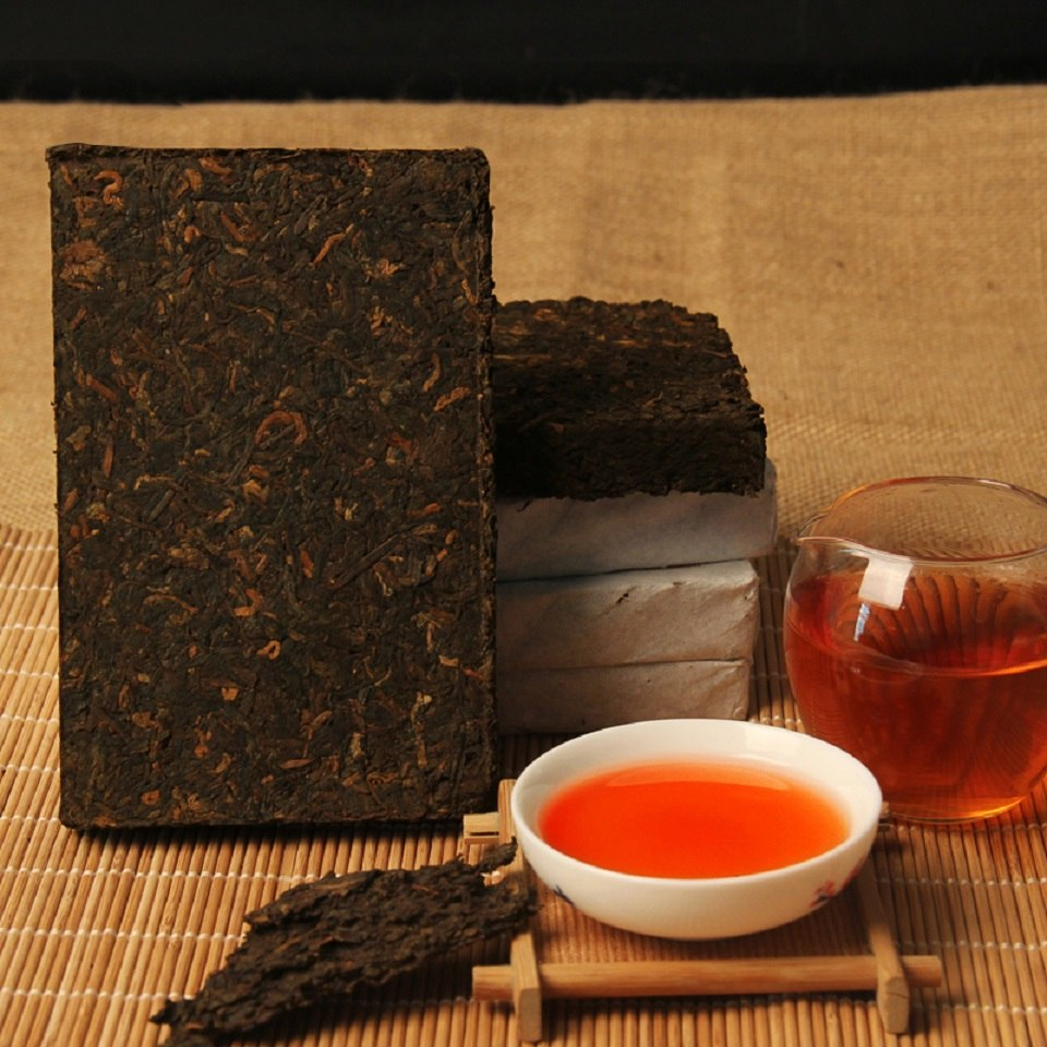 More Than 10 Years Chinese Yunnan Old Ripe China Tea Health Care Pu'er Tea Brick For Weight Lose Tea