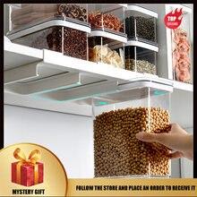 Контейнер для хранения еды стеллаж зерен с настенным пластиковым