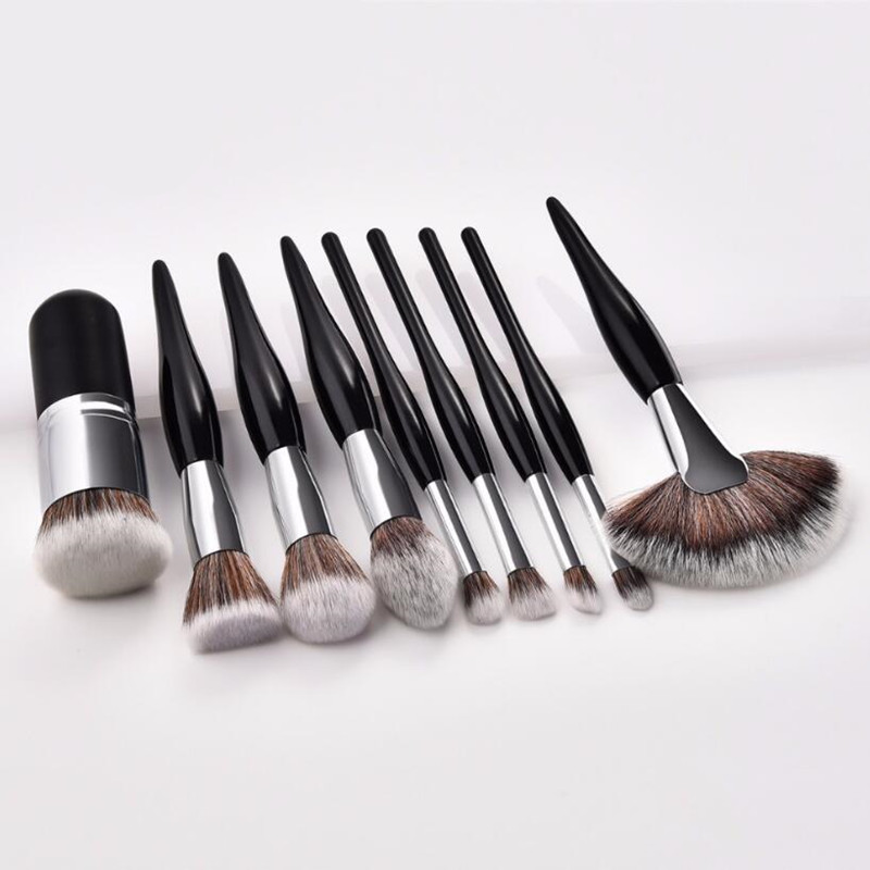 Image 5 - 4pcs or 9 Pcs Beauty Tools Sets Makeup Brushes Chubby Brush/ Flame/ Flat Head/ Micro Brush 2 Colors Blusher Foundation Concealer-in Eye Shadow Applicator from Beauty & Health