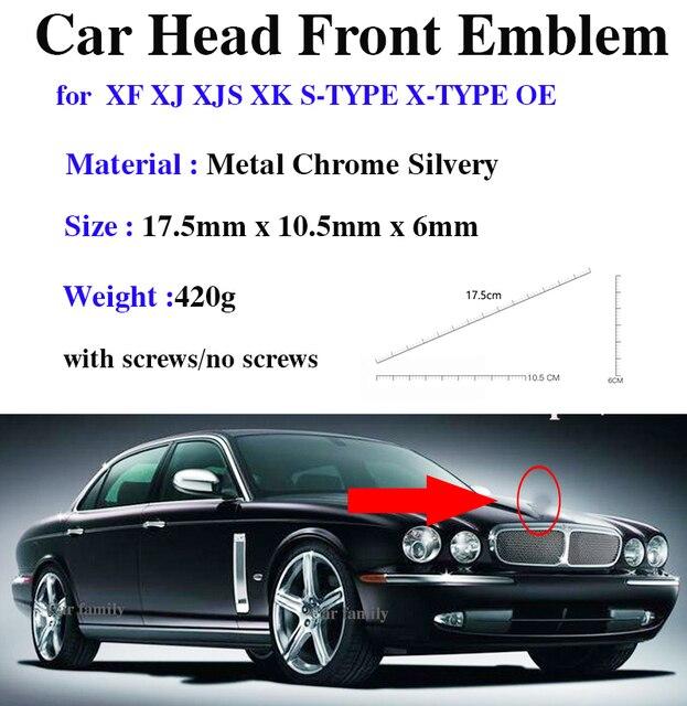 Design original accessorie emblema do carro para xf xj xjs xk S TYPE X TYPE oem 1 pçs estilo do carro capa dianteira cabeça emblema cobre