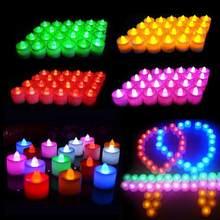 1pc criativo led vela multicolorido simulação lâmpada cor led fliker flameless vela luz para todas as partes ou decoração do feriado