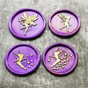 Mała wróżka pieczęć woskowa anioł elfy wesele pieczęć wosk pieczęć zaproszenie na urodziny pieczęć koperta na list wosk uszczelniający pieczęć tanie i dobre opinie XunMade CN (pochodzenie) seal stamp Standard Stamp Metal Personalized Motto