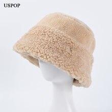 Новинка 2020 зимние шапки uspop женские плотные Панамы шапка