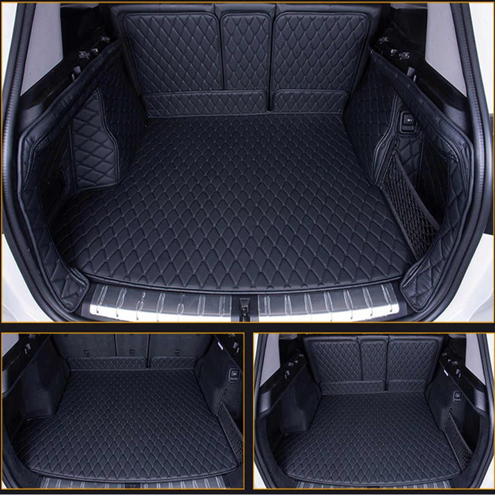 تخصيص كامل غطاء صندوق السيارة الحصير البضائع بطانة خاص ل BMW X1 E84 مكافحة زلة القدم حالة سيارة التصميم سجاد السجاد بطانات 6D (2