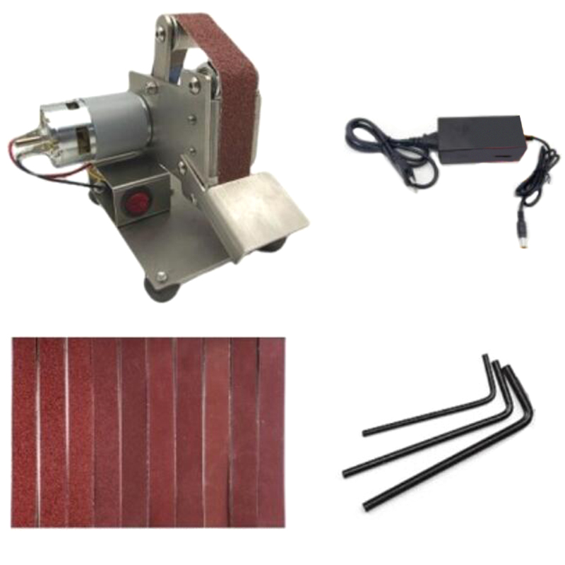 EU Plug Multifunctional Grinder Mini Electric Belt Machine Sanding Machine DIY Polishing Machine Blade Sharpener