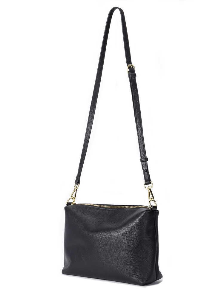 GIONAR Wanita Tas Bahu Kulit Asli Dompet dan Harian Hitam Tas Selempang untuk Wanita Designer Luxury Messenger Bag