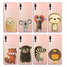 Phone Cases cartoon zebra penguin Bear fox Koalas lion bird panda tiger rabbit Hedgehog animal for huawe P8 P9 P10 P20 P30Lite