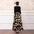 Sommer Vintage Lange Kleid Jacquard 3D Gedruckt Teil Kleid Patchwork Designer Frauen Schlanke Taille Maxi Runway Kleid DZ3021 - 4