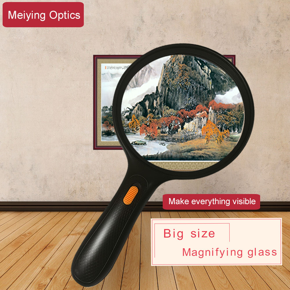 LARGE MAGNIFYING GLASS MAGNIFYING GLASSES 5X GLASS LENS OPTICAL NEW Table Light