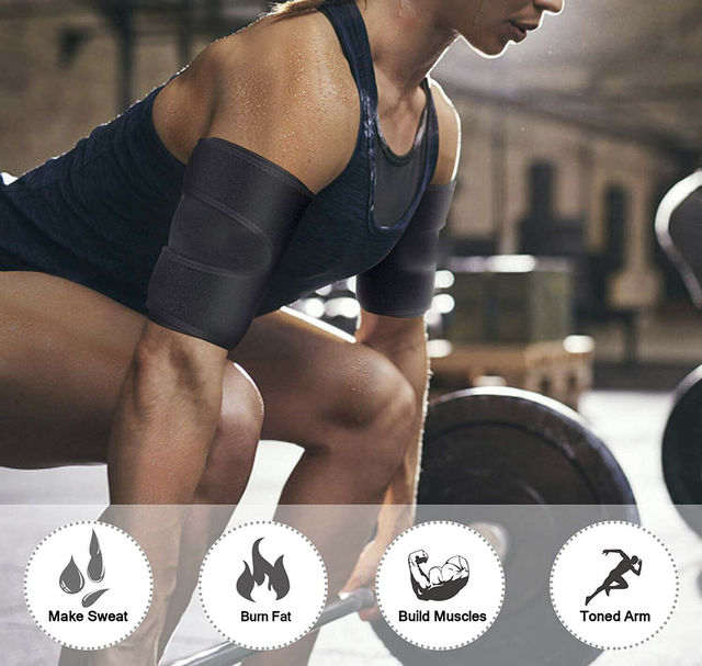 Thigh Arm Trimmers Sauna Sweat Legs Shaper Calories off Warmer Slender Slimming Arms Burn Fat Thermo Neoprene Compress Belt 3