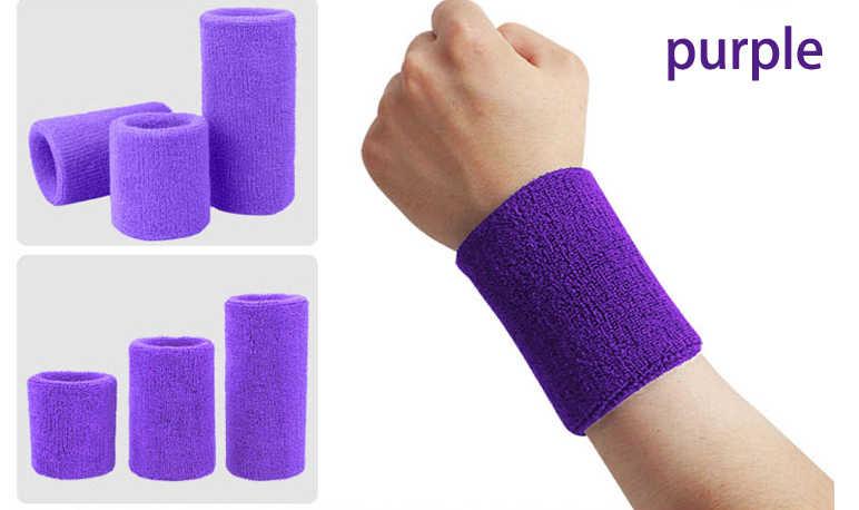 8cm spor salonu güç eğitim örme Bracers Wrister bilek koruyucu havlu manşet bilek bandı mendil ter elastik bant erkekler kadınlar için