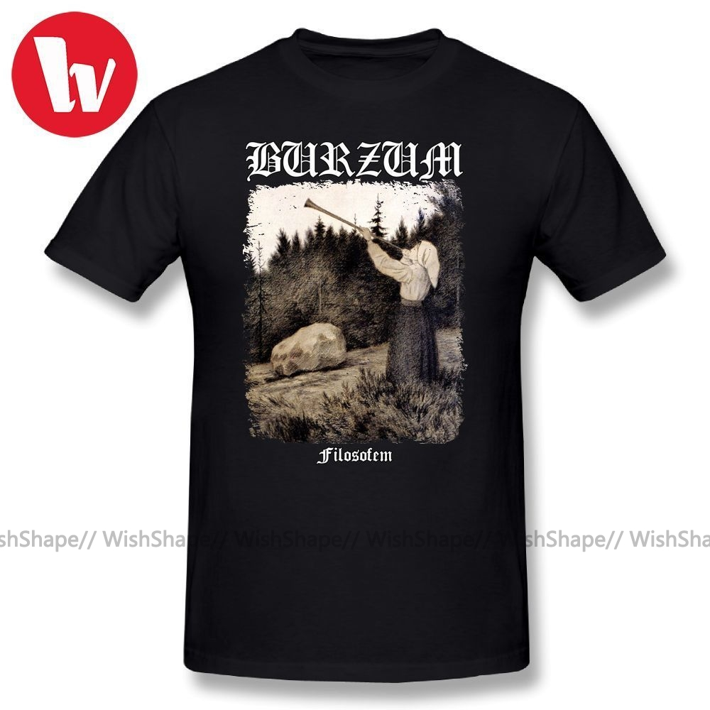 Burzum T Shirt - Filosofem Cover Ver2 Printed T-Shirt Men Casual T-shirts Plus Size Cute Cotton Tee Shirt With Short Sleeves