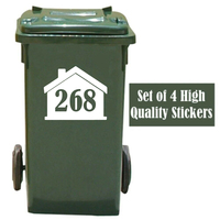 Pegatinas de cubo de basura y desechos personalizados, calcomanía de vinilo para decoración del hogar, 4 Uds.