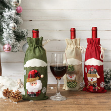 FENGRISE Santa Claus Wine Bottle Cover Christmas Decorations For Home 2019 Stocking Gift Navidad New Years Decor 2020