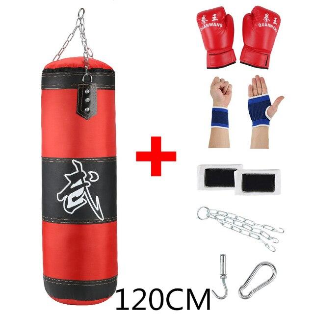 1M Training Boxing Kick Empty Sandbag Fight Punch Punching Sand Bag w// Hook Part