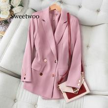 Suit Jacket Female Korean Loose British style 2020 Spring Autumn Blazers New Large Size 5XL Casual Women's Coats
