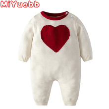 Baby Girl Clothes Newborn Baby Boy Girl Romper Knitted Sweater Jumpsuit Hooded Kid Toddler Outerwear Baby Rompers Winter Clothes