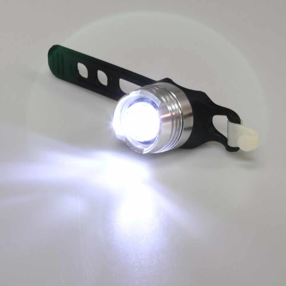 LED impermeable para bicicleta, casco trasero delantero, luces rojas de Flash, lámpara de advertencia de seguridad, luz de advertencia de seguridad para ciclismo