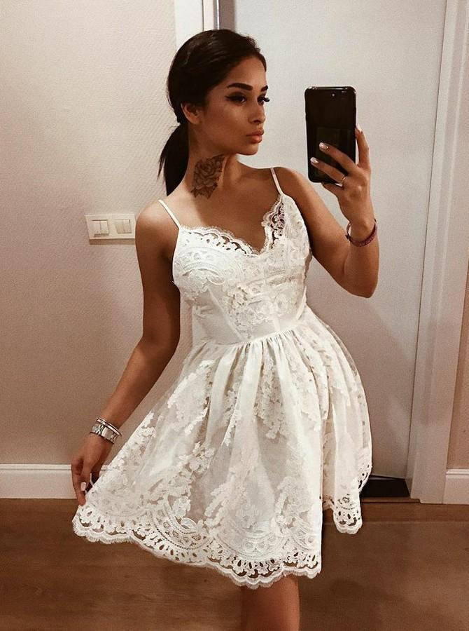 2018 Europe And America Foreign Trade New Style Formal Dress Wish AliExpress Hot Selling Sexy Lace Camisole Backless Dress Short