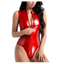 Brillant Transparent Body femmes dentelle maille fermeture éclair ouvert entrejambe serré Clubwear Bodydoll femmes Sexy corps Encaje Mujer ##7(China)