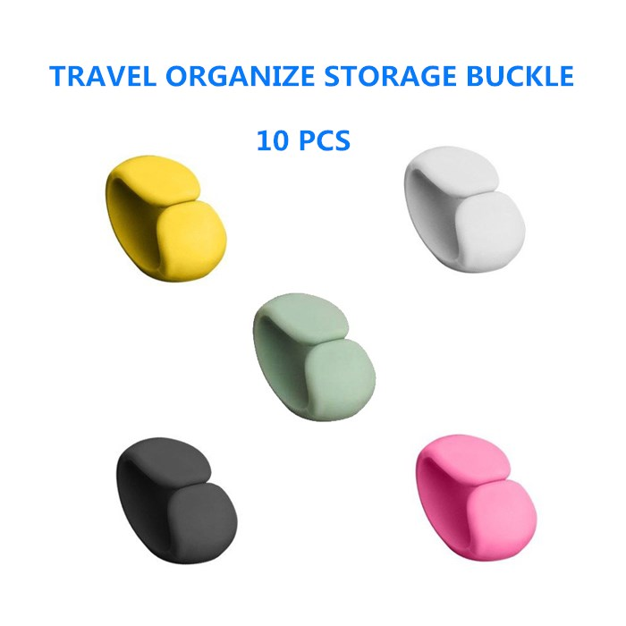 10p Travel Data Line Hub Finishing Buckle Headset Charging Cable Finishing Storage Buckle Simple Multifunctional Winding Buckle