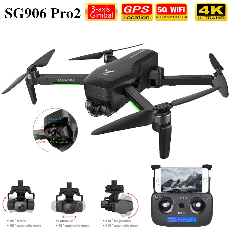 SG906 Pro2 Drone Quadcopter With HD Camera 4K GPS 5G WIFI 3 Axis Anti Shake Gimbal Professional Brushless RC Dron