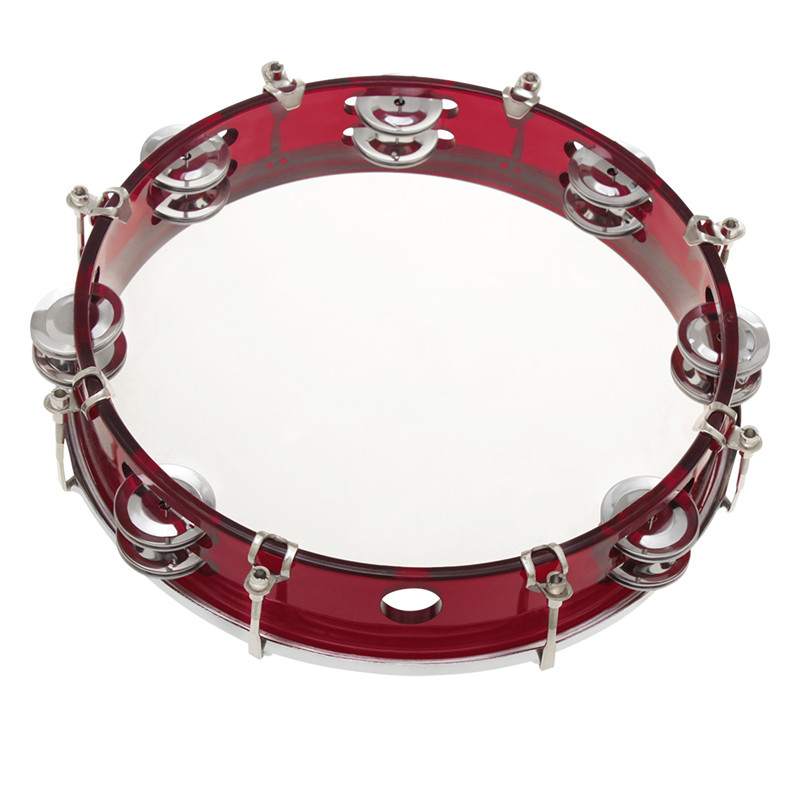 Lightweight Handheld Tambourine Stainless Steel Portable Hand Ring Dance Drum Musical Instrument