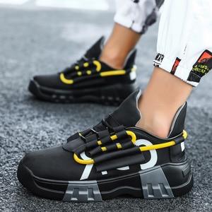 Image 4 - Chunky scarpe Da Tennis di Sport Casual Scarpe Hip Hop Streetwear Spessore Degli Uomini di Fondo Giallo INS Runningg Scarpe Cestino Tenis Masculino Adulto