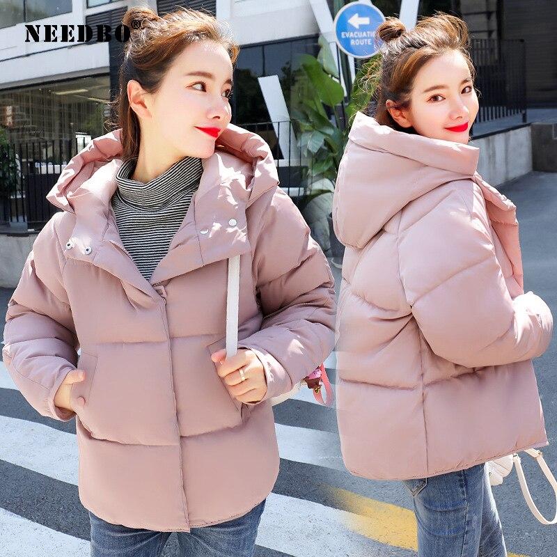 NEEDBO Women Down Jacket Hooded Down Coat White For Women Slim Down Jackets Ultra Light Down Coat Winter Oversize Parka Doudoune