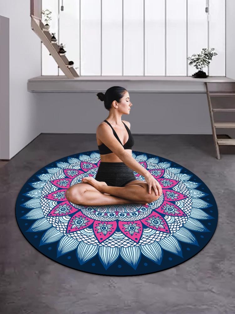 Permalink to Round Yoga Mat Female Meditation Mat Natural Rubber Household Fitness Yoga Meditate Zen Mat Children Dance Mat
