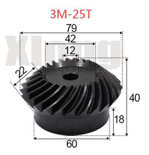 2pcs 3M-25Teeths Inner Hole: 12mm Precision Spiral Bevel Gear Spiral Bevel Gear стоимость