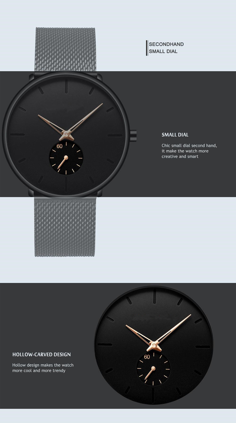 Homens de Negócios Relógio Masculino Cinto de