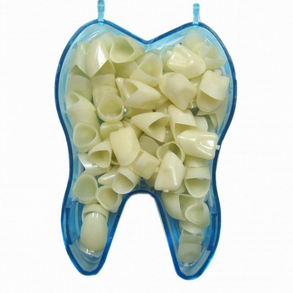 60pcs/lot Portable Temporary Crown Anteriors Front Molar Posterior Nature Color Tooth Teeth Whitening Dental Materials Dentist