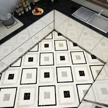 Self-adhesive Marble Floor Tile Wall Sticker PVC Oil-proof Waterproof for Home Living Room Bedroom Kitchen Bathroom DPH-001(China)