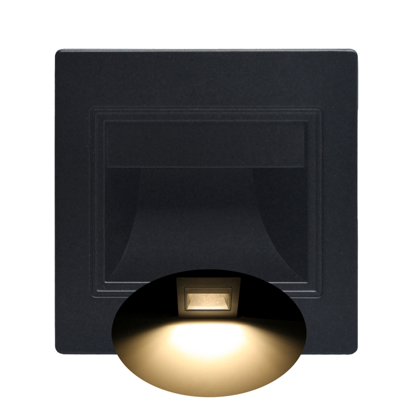 1.5W LED Recessed Light Pathway Path Stair Step Wall Garden Indoor Outdoor Lamp D08F