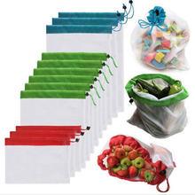 Экологичная моющаяся сетчатая продуктовая сумка thours многоразовая
