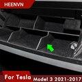 Автомобильный контейнер Heenvn Model3 для хранения медвежат Tesla Model 3 2021, аксессуары, перчаточный ящик, многослойная сортировочная доска для Tesla Model...