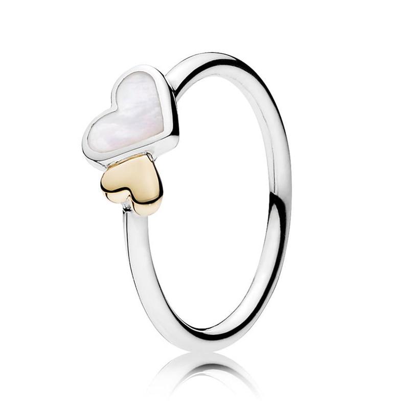 Кольцо на палец в форме сердечко серебряного цвета для женщин, европейская оригинальная Корона, изящные кольца на палец, свадебные украшения, 50 стилей, Прямая поставка - Цвет основного камня: Rings 033